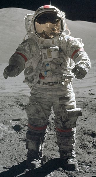 Gene Cernan EVA suit Moon. Credit: NASA
