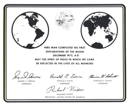 Apollo 17 plaque