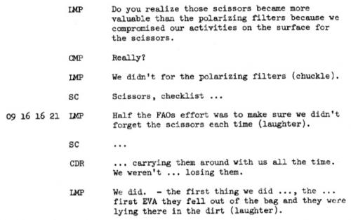 Apollo17 scissors transcript