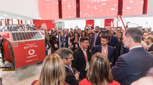 HRH Felipe VI, King of Spain, comes to visit ALINA at MWC18